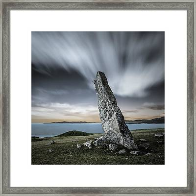 Macleod's Stone Framed Print by Dave Bowman