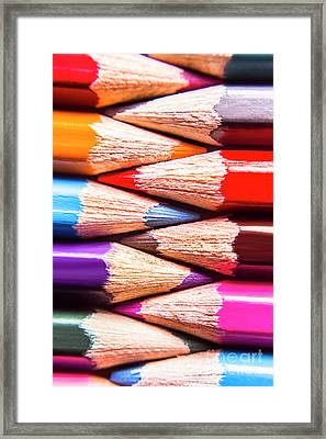 Macro Coloured Pencil Crossover Framed Print by Jorgo Photography - Wall Art Gallery