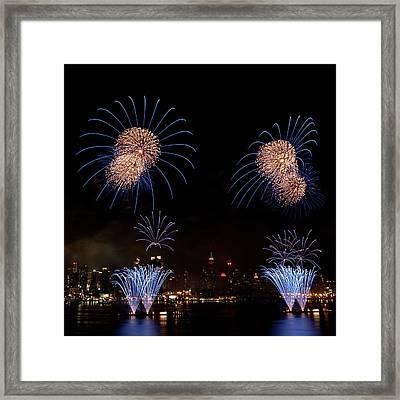 Macy's Fireworks IIi Framed Print by David Hahn