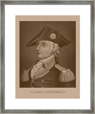 Mad Anthony Wayne Framed Print by War Is Hell Store