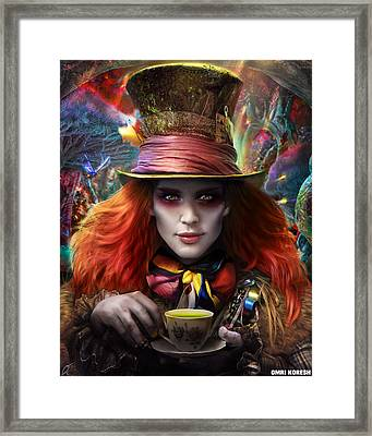 Mad As A Hatter Framed Print by Omri Koresh
