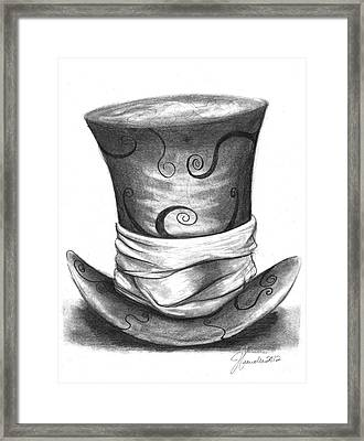 Mad Hat Framed Print by J Ferwerda