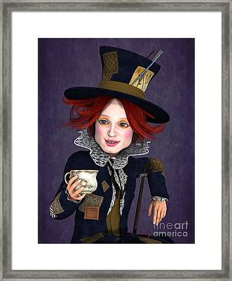 Mad Hatter Portrait Framed Print by Methune Hively