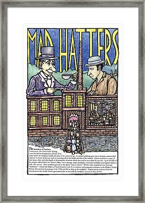 Mad Hatters Framed Print by Ricardo Levins Morales