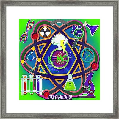 Mad Science Collage Framed Print by Steve Ohlsen