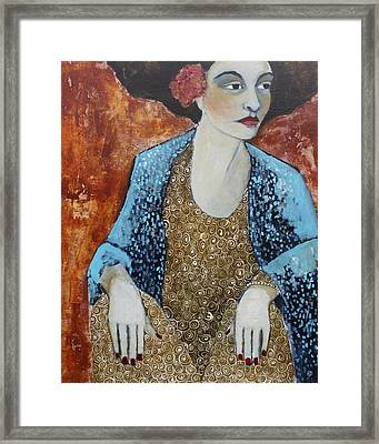 Madam Blue Framed Print by Jane Spakowsky