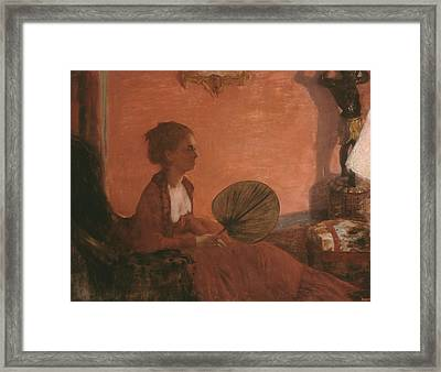 Madame Camus Framed Print by Edgar Degas