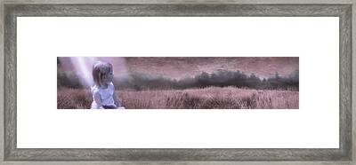 Maddie In The Field Framed Print by Jeff Burgess