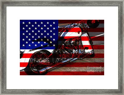 Made In The Usa . Harley-davidson . 7d12757 Framed Print by Wingsdomain Art and Photography