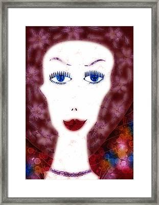 Mademoiselle Framed Print by Frank Tschakert