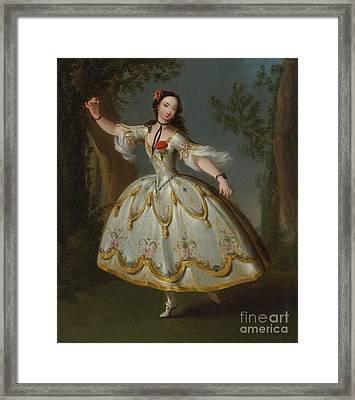 Mademoiselle Violette Dancing Framed Print by Celestial Images