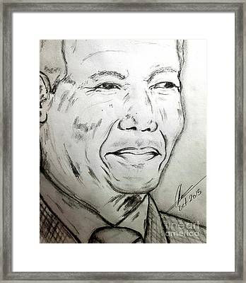 Madiba Framed Print by Collin A Clarke