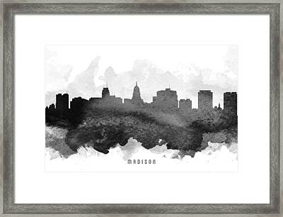Madison Cityscape 11 Framed Print by Aged Pixel