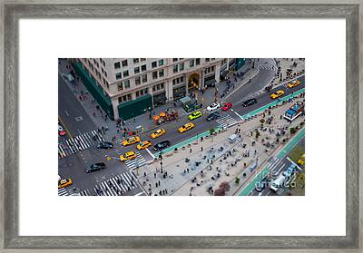Madison Square Traffic I Framed Print by Clarence Holmes