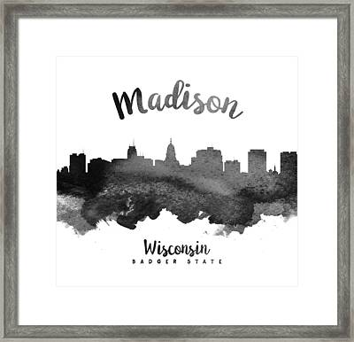 Madison Wisconsin Skyline 18 Framed Print by Aged Pixel