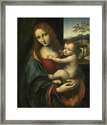 Madonna And Child Framed Print by Giampietrino