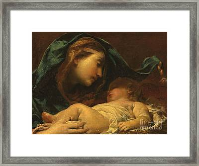 Madonna And Child Framed Print by Giuseppe Maria Crespi