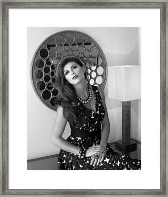 Madonna Chanel Bw Framed Print by William Dey