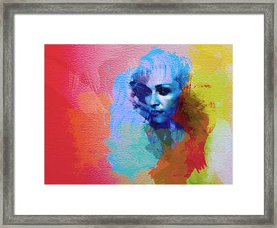 Madonna Framed Print by Naxart Studio