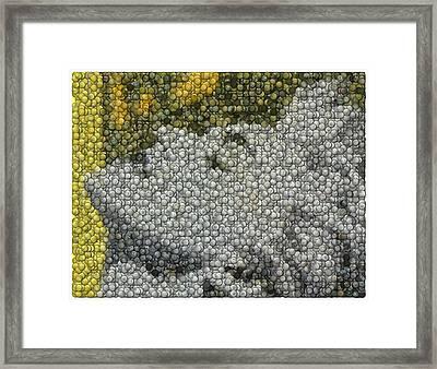 Madonna True Blue Material Girl Coins Mosaic Framed Print by Paul Van Scott