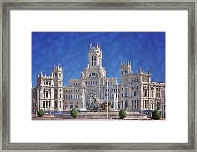 Madrid City Hall Framed Print by Joan Carroll
