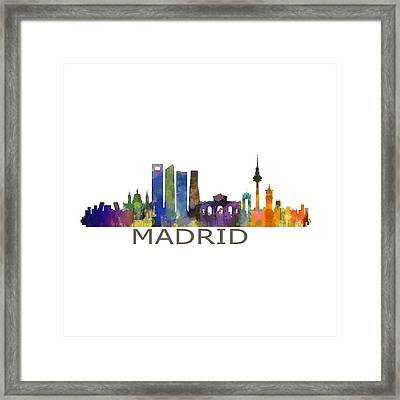 Madrid City Skyline Hq  Framed Print by HQ Photo