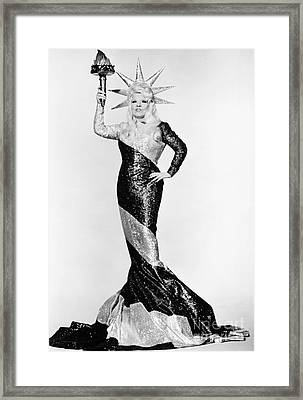 Mae West (1892-1980) Framed Print by Granger
