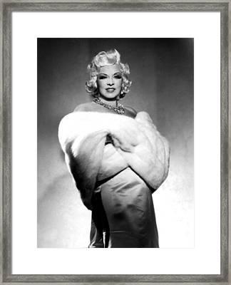 Mae West Framed Print by American School