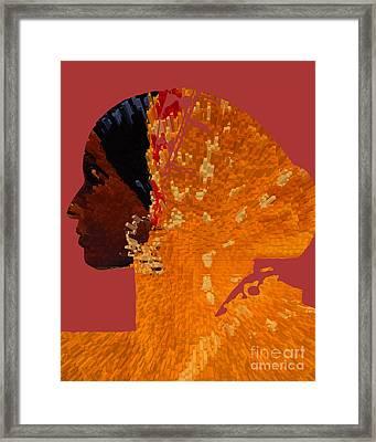 Maferefun Ochun Yoruba Framed Print by Liz Loz