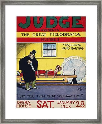 Magazine Cover, 1928 Framed Print by Granger