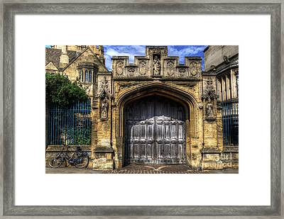 Magdalen College Door - Oxford Framed Print by Yhun Suarez