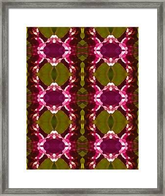 Magenta Crystal Pattern Framed Print by Amy Vangsgard