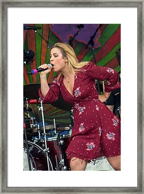 Maggie Koerner Performing With Galactic Framed Print by Terry Finegan