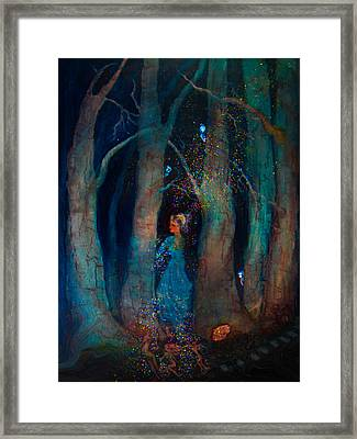 Magic Birch Trees Framed Print by Patricia Motley