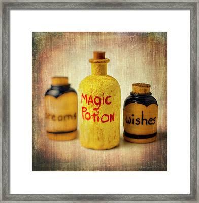 Magic Bottle Framed Print by Garry Gay