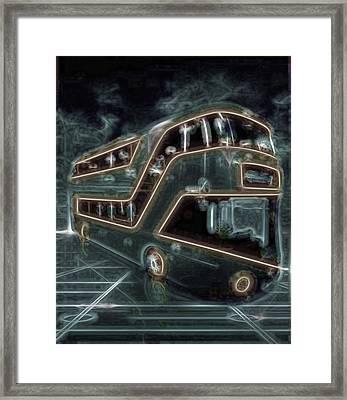 Magic Bus On The Grid Framed Print by Mario Carini