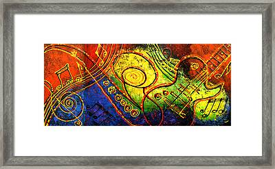 Magic Guitar Framed Print by Leon Zernitsky