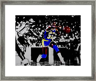 Magic Johnson Bounce Pass Framed Print by Brian Reaves