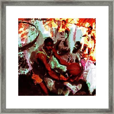 Magic Johnson Taking Flight Framed Print by Brian Reaves
