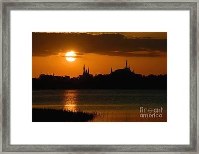 Magic Kingdom Sunset Framed Print by David Lee Thompson