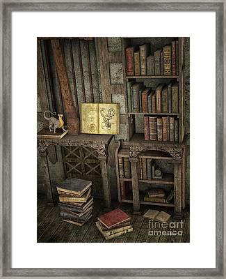 Magic Literature Framed Print by Jutta Maria Pusl