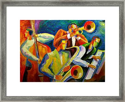 Magic Music Framed Print by Leon Zernitsky
