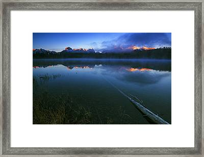 Magic Of Sawtooth Sunrise In Stanley Idaho Framed Print by Vishwanath Bhat