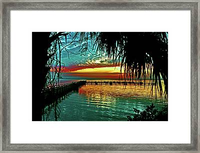 Magic Of The Setting  Framed Print by Davids Digits