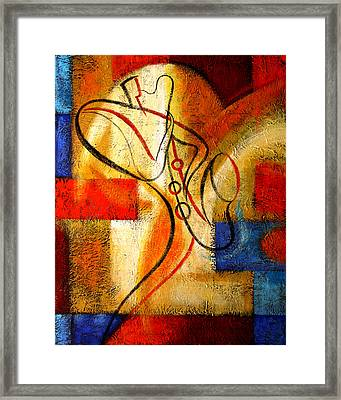 Magic Saxophone Framed Print by Leon Zernitsky