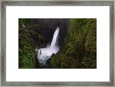 Magical Falls Framed Print by Larry Marshall