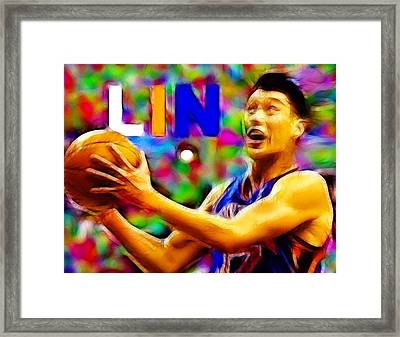 Magical Jeremy Lin Framed Print by Paul Van Scott