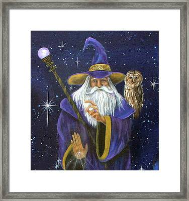 Magical Merlin Framed Print by Sundara Fawn