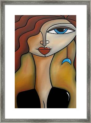 Magical Original Acrylic On Canvas Framed Print by Tom Fedro - Fidostudio