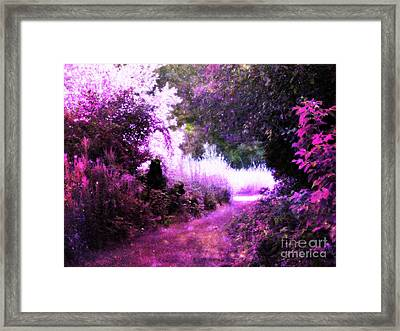 Magical Pink Path Framed Print by Johari Smith